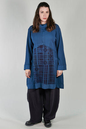2207 Thermal Travel All Roads Tunic Imaginary Blue-P