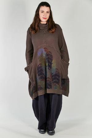 2207 Thermal Travel All Roads Tunic Italian Umber-P