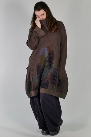 2207 Thermal Travel All Roads Tunic-Italian Umber-printed