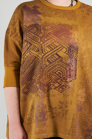 2306 Hemp Cotton Pullover-Palo Santo- Printed