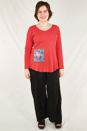 1231 Sweetheart Thermal A-Line Top