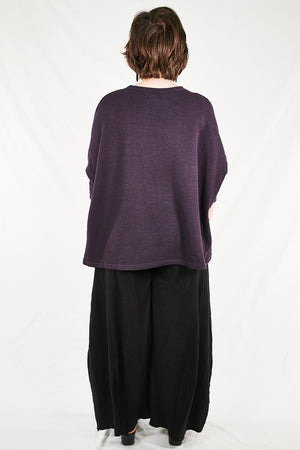 2306 Hemp Cotton Pullover Plumblack-P