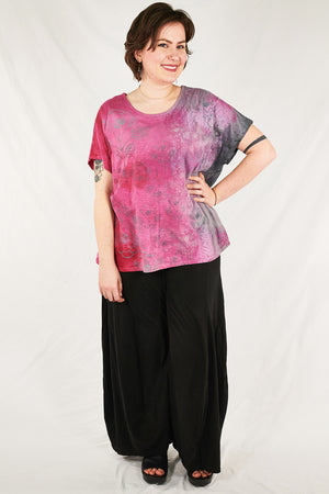 1250 HD Hand Dyed Moon Tee Pink Punch Storm/Antique Floral   P