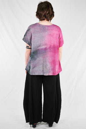 1250 HD Hand Dyed Moon Tee Pink Punch Storm/Antique Floral-P