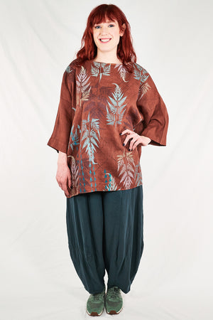 L594-Oversized Square Linen Top-Mojave-P