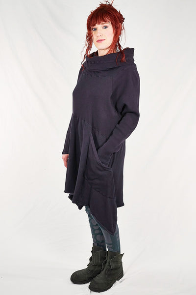 2292-Cowl Thermal Pocket Tunic-Plumblack-unprinted