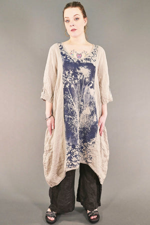 2299 Cloud Linen Dress Wet Sand-P