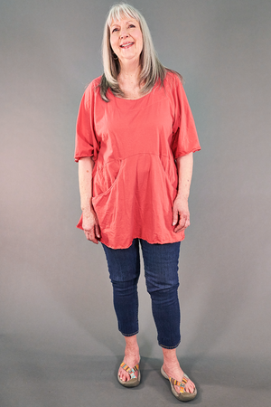 2187-2   Be Here Now Tunic Coral -U