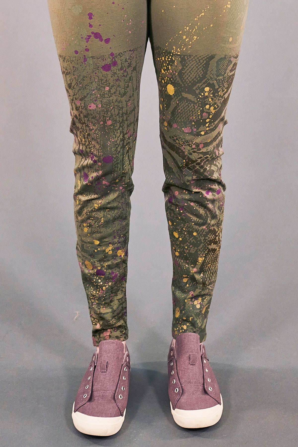 3136 Handprinted Legging-Vegetal-P