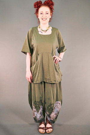 2187-2   Be Here Now Tunic Vegetal-U