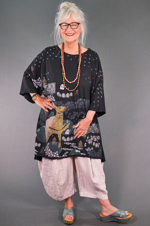 1255 Art Tunic Magpie Black-P
