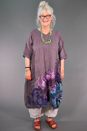 2195 Serenade Tunic Flint-Splendid Bouquet