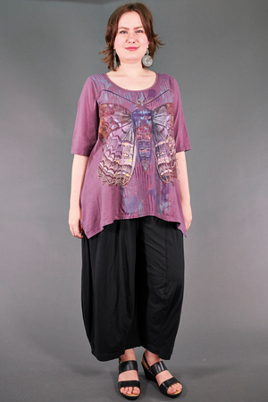 1237 Collector's Top Sweet Plum-Painterly Charaxes