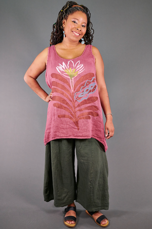 1196 Swing Linen Tank-Bloom-Bold Synthesis