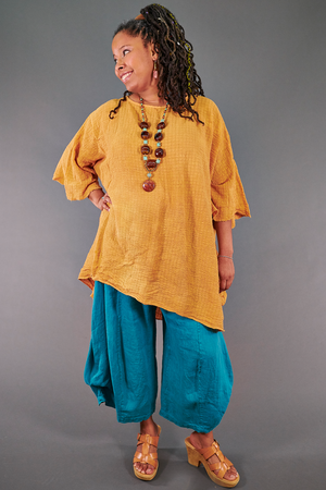2282 Long Ana Tunic-Marigold/Rust