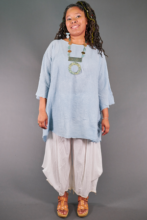 2282 Hand Dyed Ana Tunic- Cloud-U
