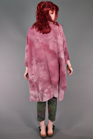 2282 Hand Dyed Ana Tunic-Pomegranate-U