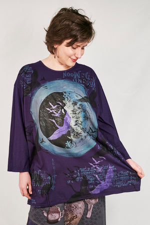 1157 Oversized Studio Tee Mystic Purple-P