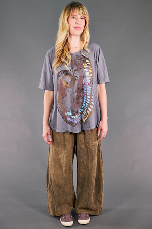 1211 Simple A-line Tee Pewter-The Artist Palette