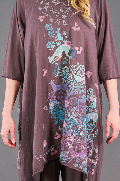 1565 Summer Swing Tunic Flint-Ethereal Forest