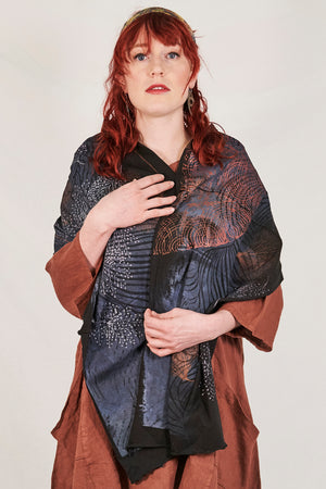 8001  Cotton Long Scarf-Black-Oceanic Menagerie