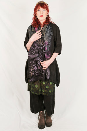 8001  Cotton Long Scarf-Black