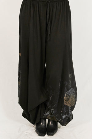 3142 Organic Cotton Billow Lounge Pant Black-P