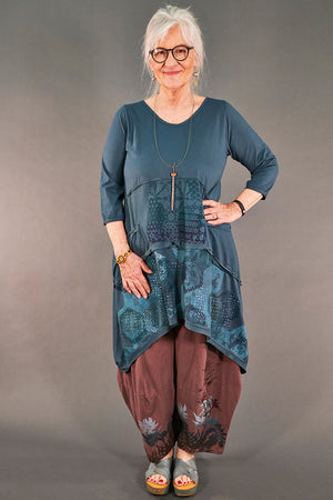 2222 Vector Tunic Puddle-Printed