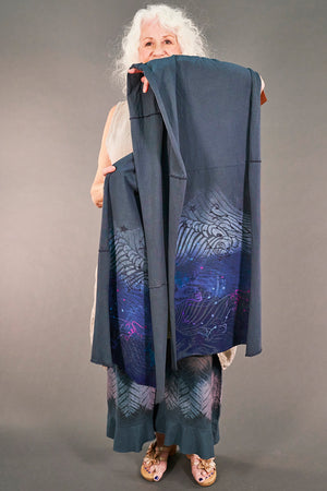 8001 OJ Cotton Long Scarf-Dew Drop