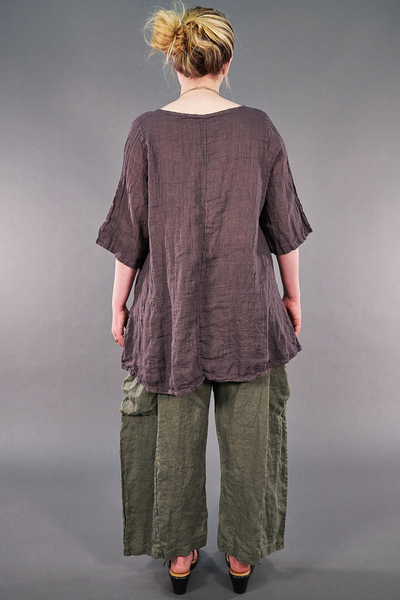 1210 Linen Simple Tunic Flint-P