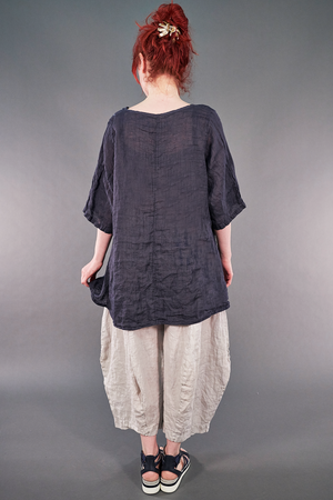 1210 Linen Simple Tunic Shadow-P