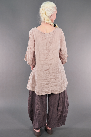 1210 Linen Simple Tunic Malva-P