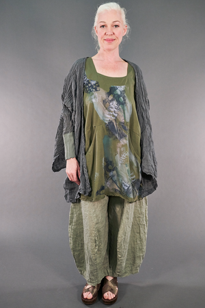 2187-2  Be Here Now Tunic Vegetal- P