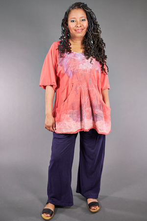 2187-2  Be Here Now Tunic Coral-P