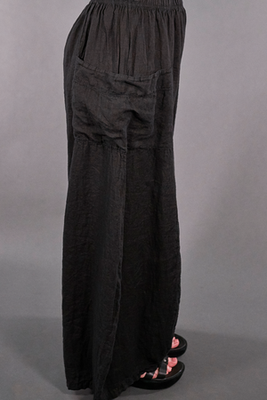3243-Linen Billow Pant Black-U
