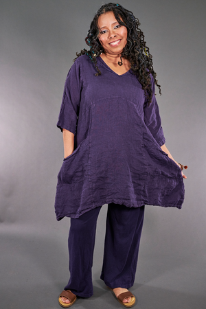 2185 Long V Urchin with Pockets Violet Ink-U