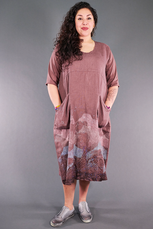 7214 Linen Dress Treehouse-P