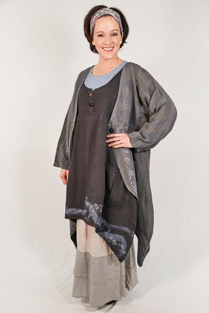 5266 Geoides Duster Graycious Elegant Filigree-P