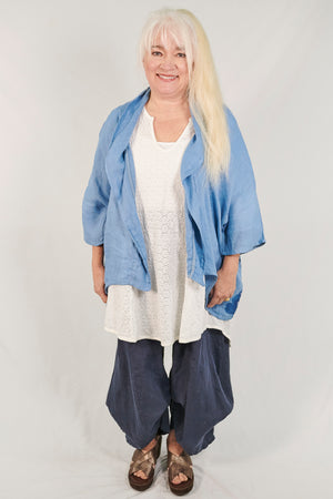 5230 Artful Summer Cardi Light Blue-P
