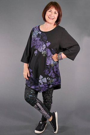 1175 Artist Pocket Top-Magpie Black-P