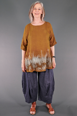 1210 Linen Simple Tunic Vintage Brass-P