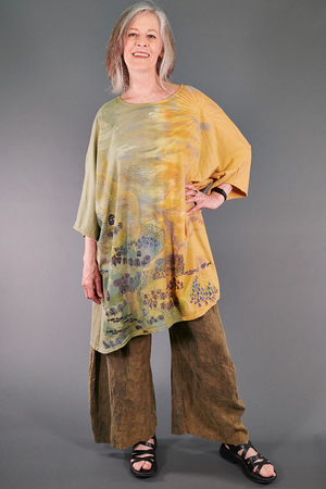 1255HD Art Tunic-Sunrise Harvest Village-P