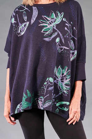 2306 Hemp Cotton Pullover Aubergine-P