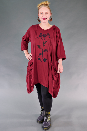 2313 Everyday Tunic-Rowan-Botanic Silhouette