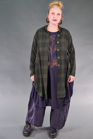 2289 Plaid Buttoned Work Shirt-Night Forest-U