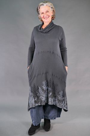 7220 Thermal Cowl Dress-Sea Grey-P