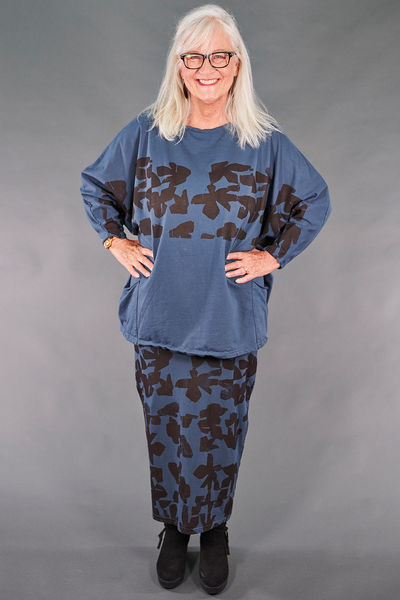 2319 Mariposa with Patch Pockets- Blue Cypress-P
