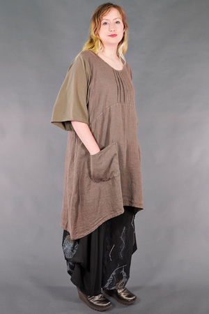 7203 Milkmaid Dress-Bark-U