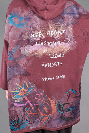 5255 HZ Square Zipper Hoodie-Sumac-Liquid Sunsets