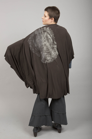 Talisman Kimono Black Tourmaline Printed-Blue Fish Clothing